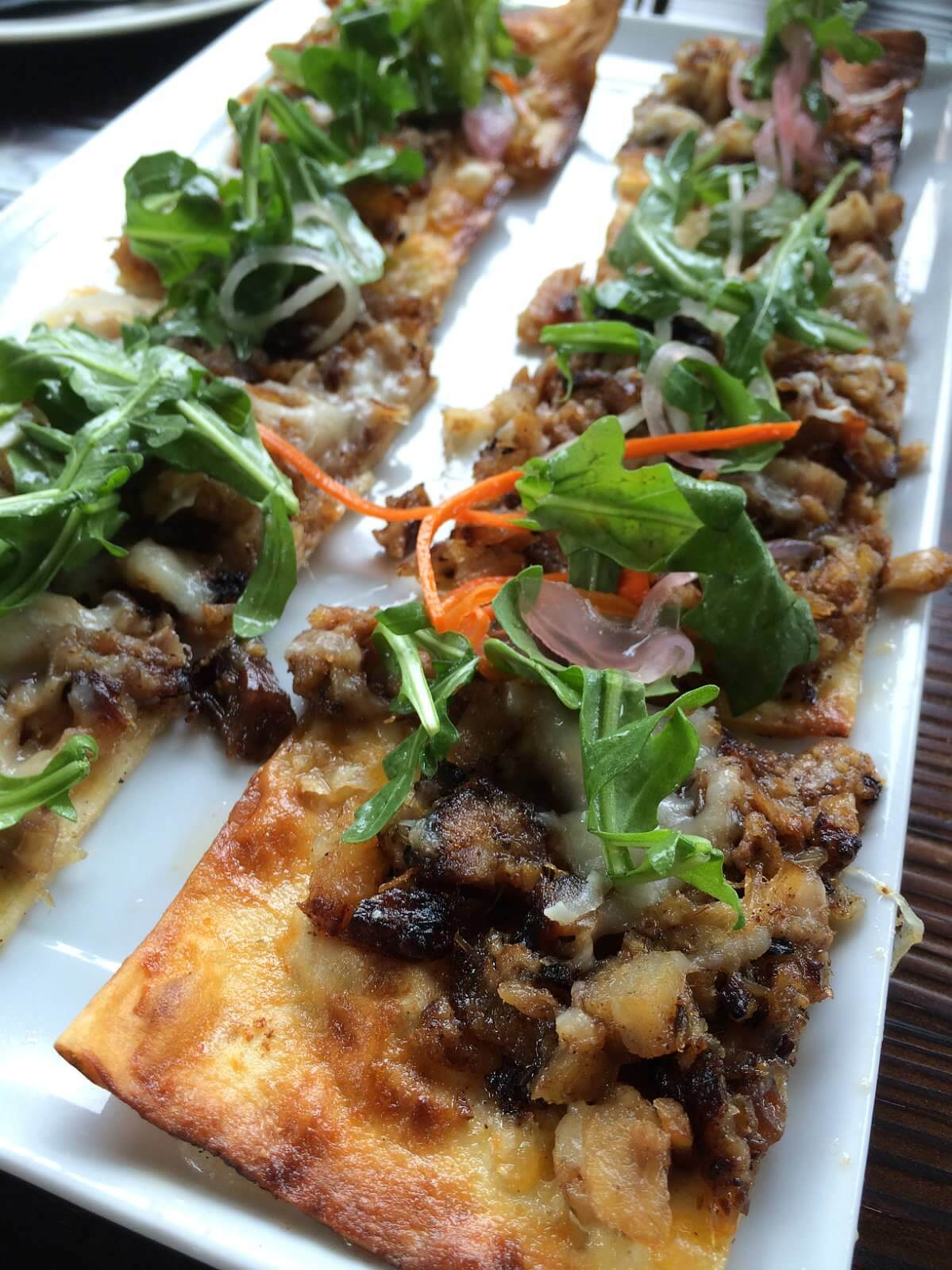Pork Belly Flatbread.