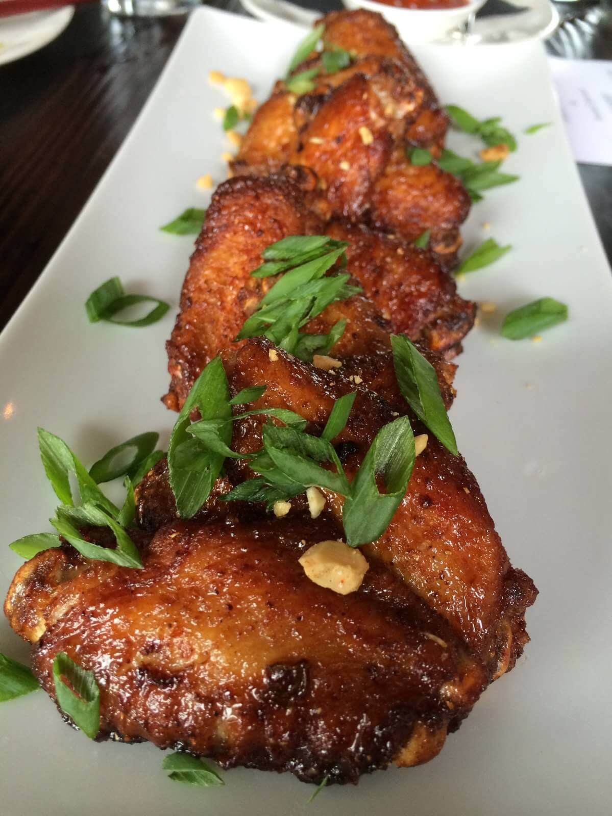 The District Chicken Wings. Slightly tangy and sweet and loaded with flavor.