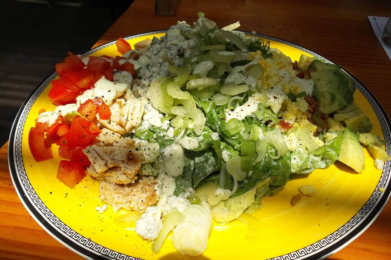 Cobb Salad, bibb, roasted turkey, bacon, blue cheese,