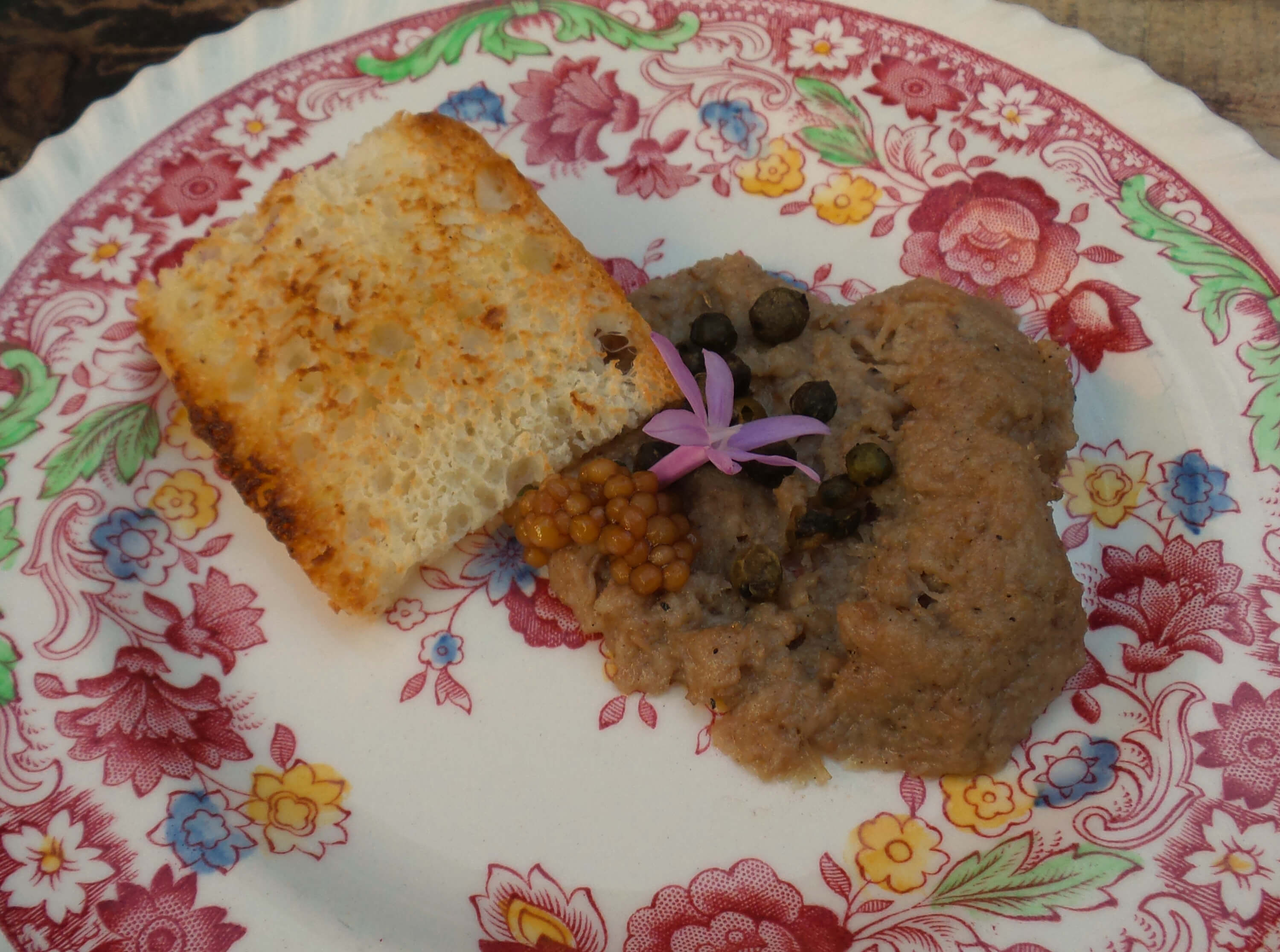 Duck Rillette with green peppercorns
