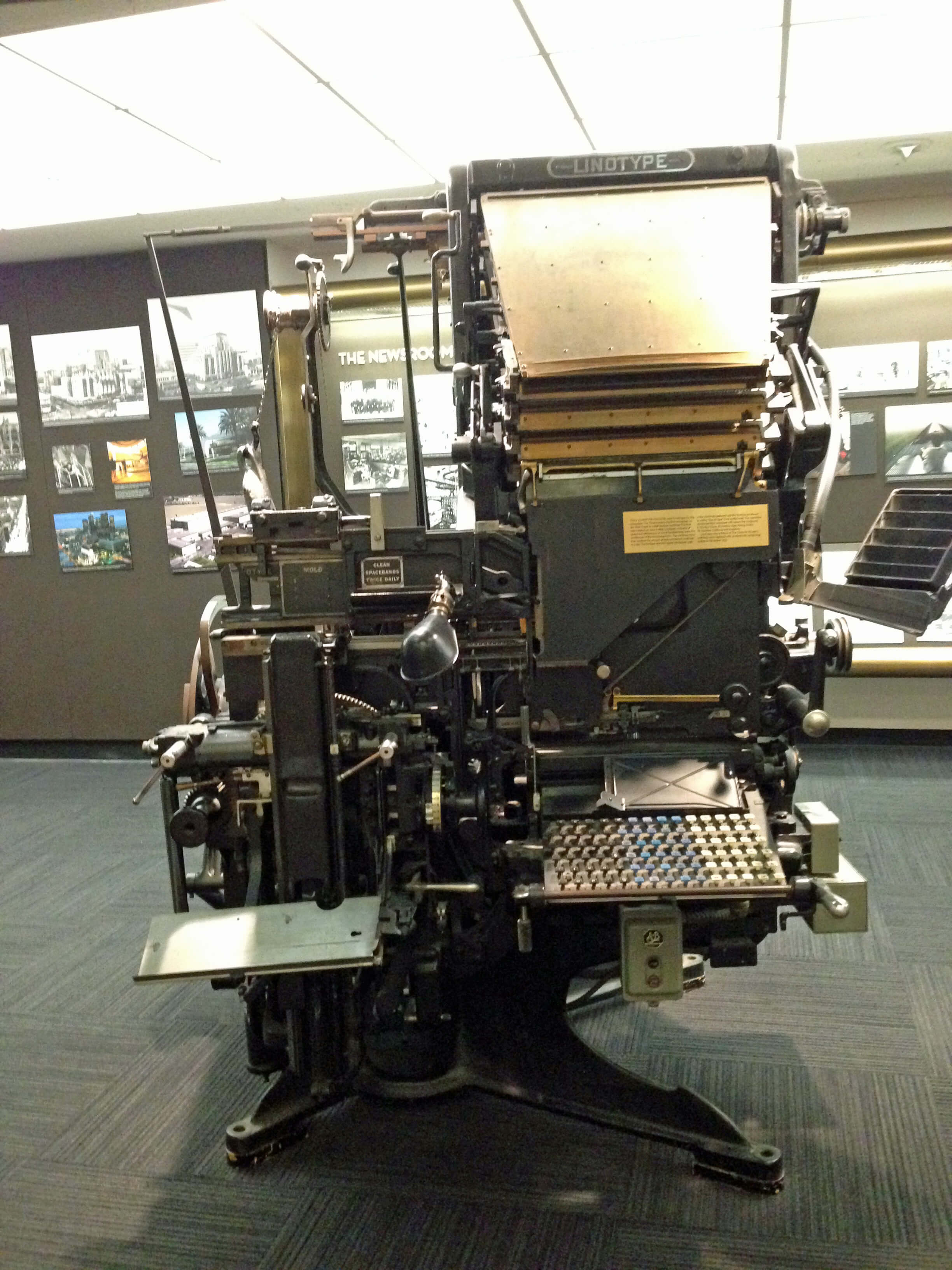 A linotype machine. This is how they USED to print newspapers!
