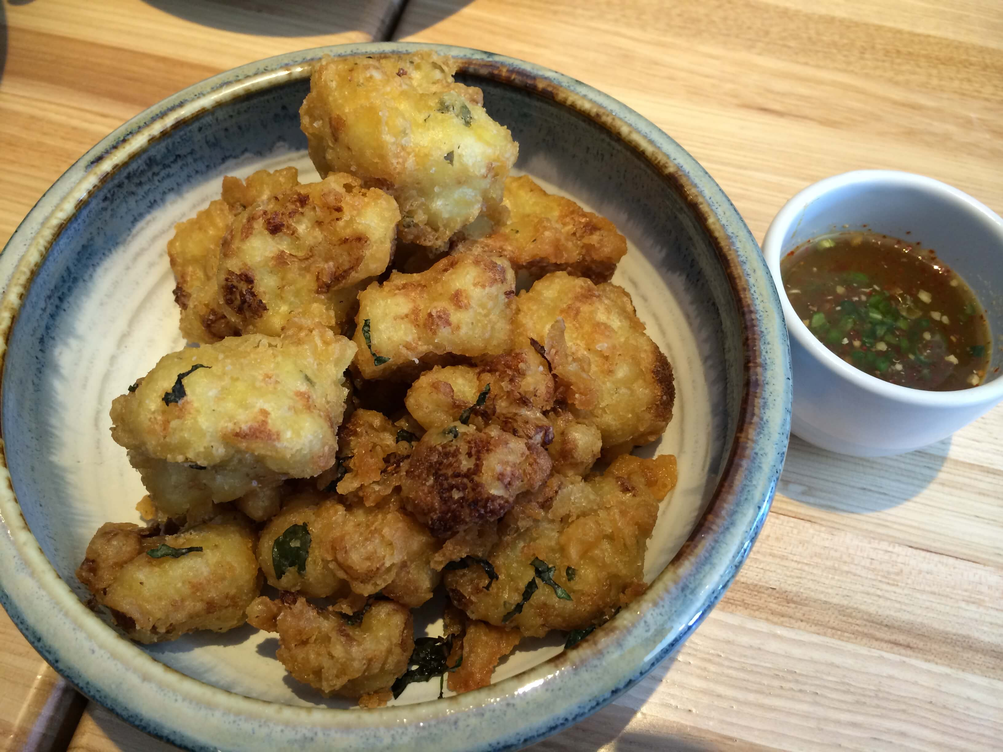 Tempura CAuliflower, Thai Chili, Mmint, Thai Basil, Lime, Nam Pla