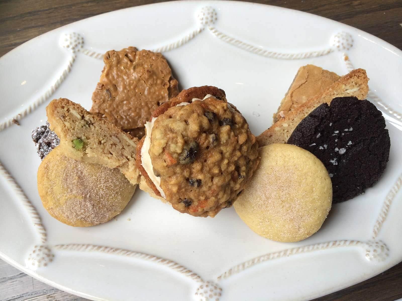 Assorted petite cookies