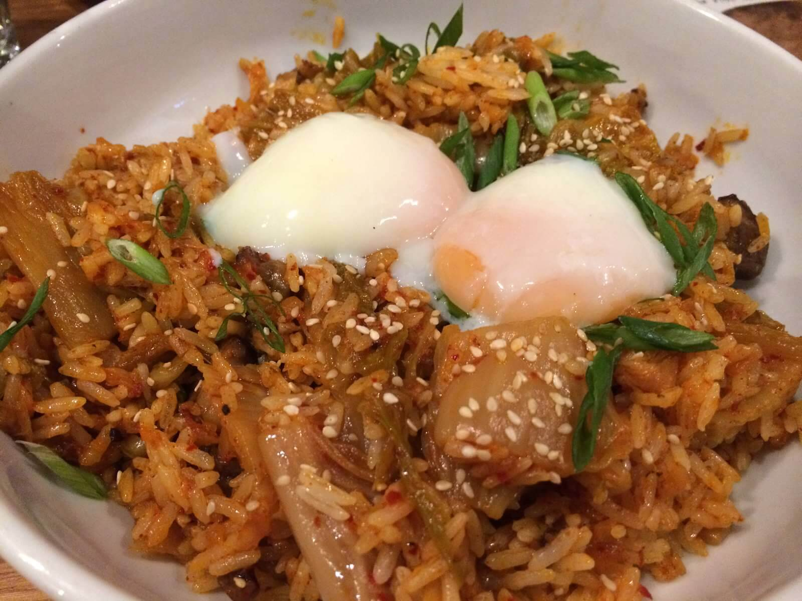 Kimchi Fried Rice--soft egg, beef short ribs