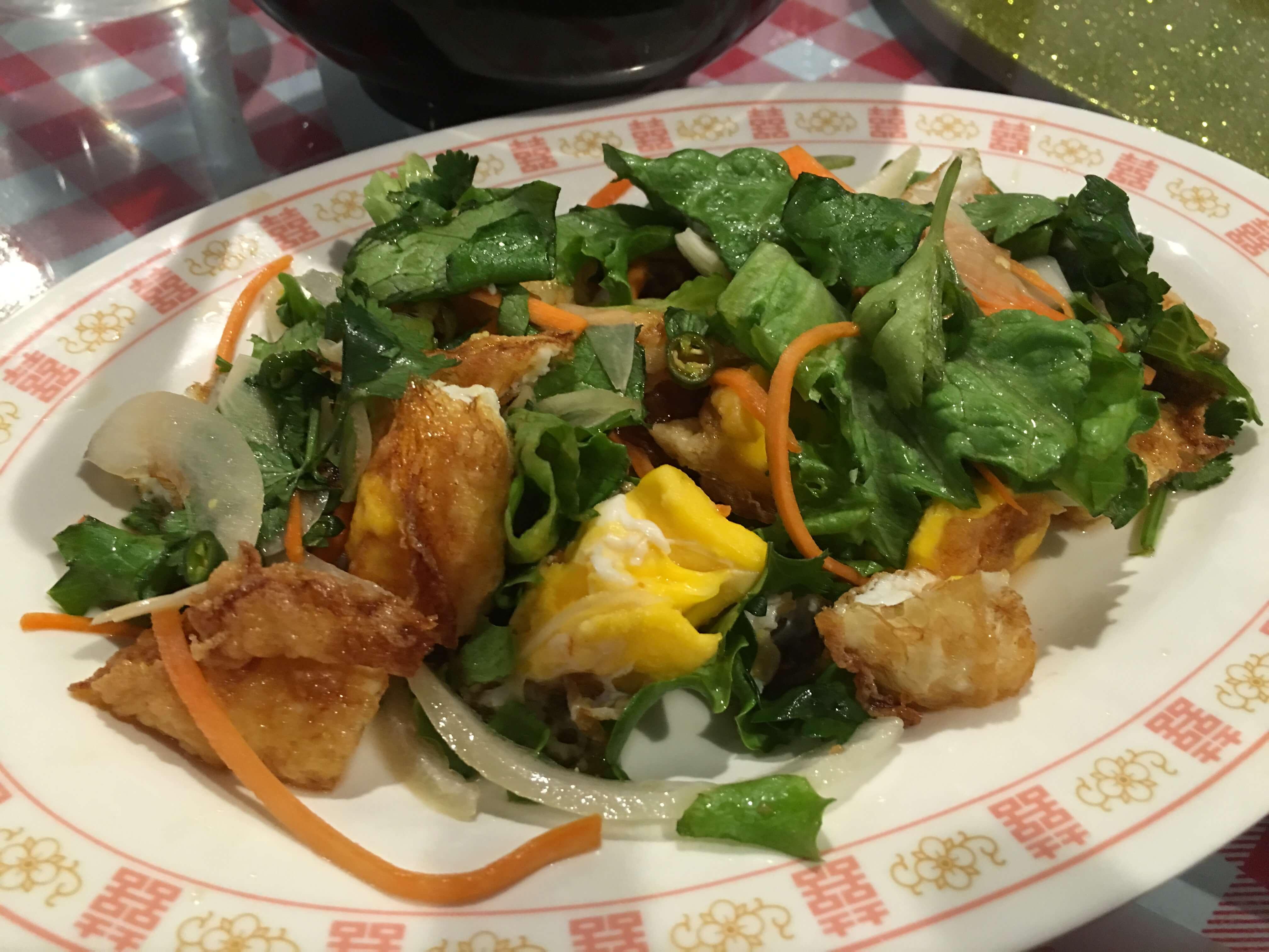 Yam Khai Dao. Crispy Egg Salad