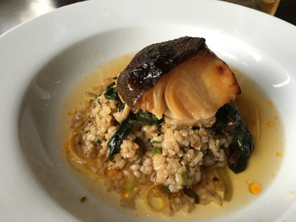 Marinated Black Cod: half brown rice, sauteed swiss chard
